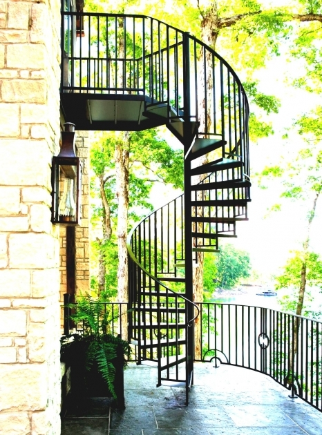 Outdoor Spiral Staircase Kits Home Exterior Design Image 68