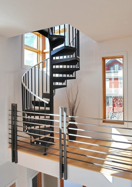 Small House Staircase Designs Vertical Spiral Modern Steel Stair With Natural Finished  Images 30