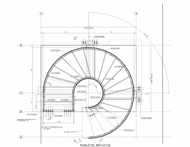 Spiral Staircase Measurements Drawing Pdf Uk Pictures 32