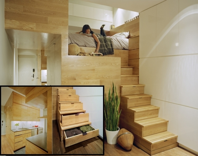 Staircase Ideas For Tiny Houses Apartment Interior With Wooden Stairs Image 56