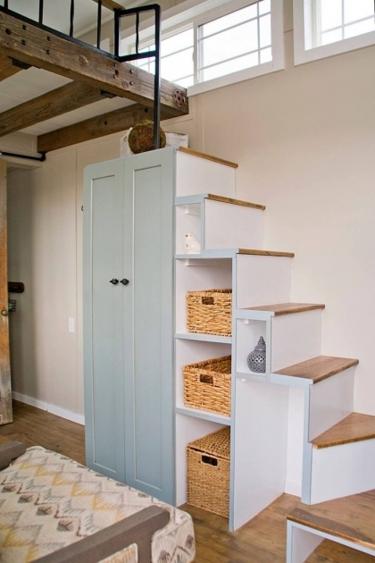Staircase Ideas For Tiny Houses Storage Design Pics 26