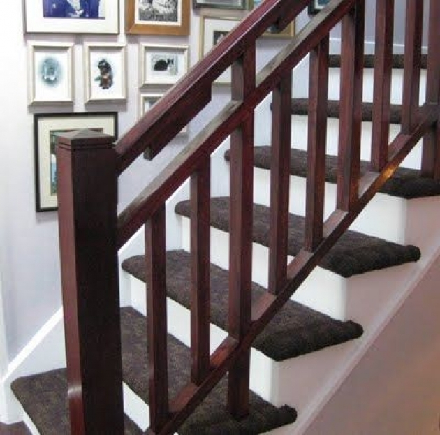 Staircase Railings Crossword Dark Wood Ideas Pic 19