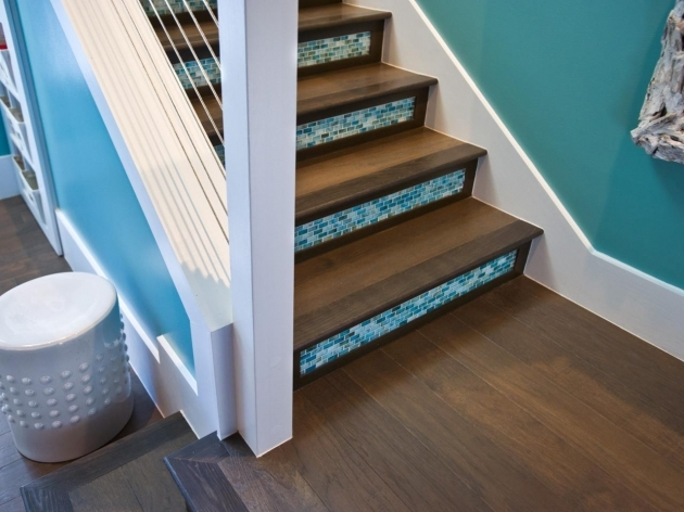 Wood Stair Treads With Tile Risers Artistic Interior Photos 92