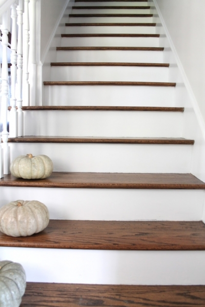 Wood Stair Treads With Tile Risers Makeover Ideas Picture 22