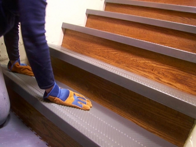 Wood Stair Treads With Tile Risers Non Slip Style  Image 82