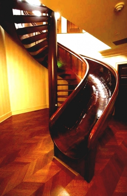Wood Staircase With Slide House Design Ideas Spiral Staircase Ideas Photo 72