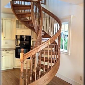 Wooden Spiral Staircase Plans