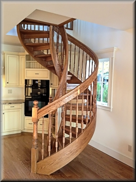 Wooden Spiral Staircase Plans Construction Pictures 20