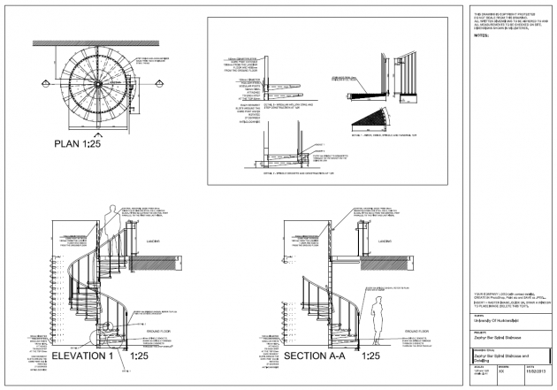 Wooden Spiral Staircase Plans Detail Drawings Autocad Pic 13