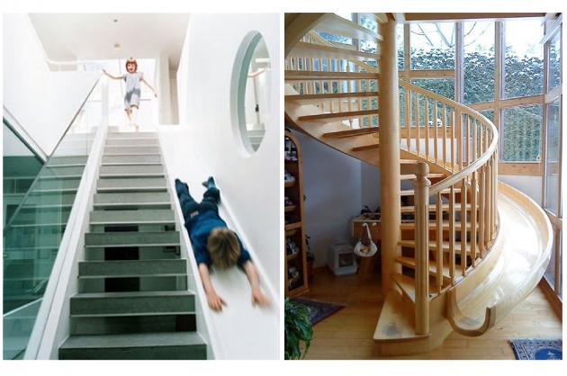 Wooden Staircase With Slide Best Design Pictures 65