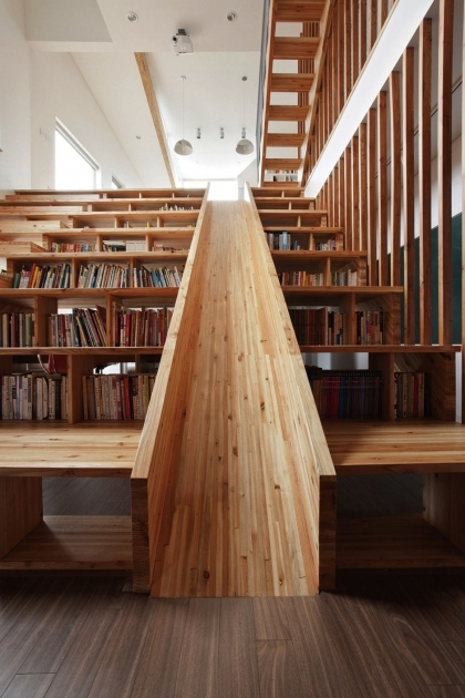 Wooden Staircase With Slide Plywood Design Images 25