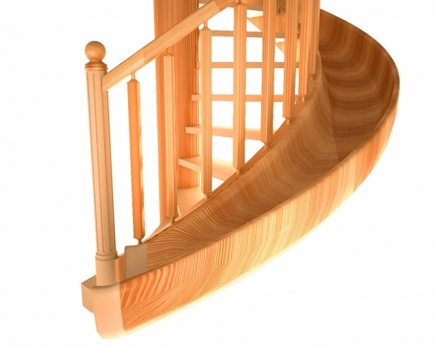 Wooden Staircase With Slide Spiral Stairs 3d Model Images 73