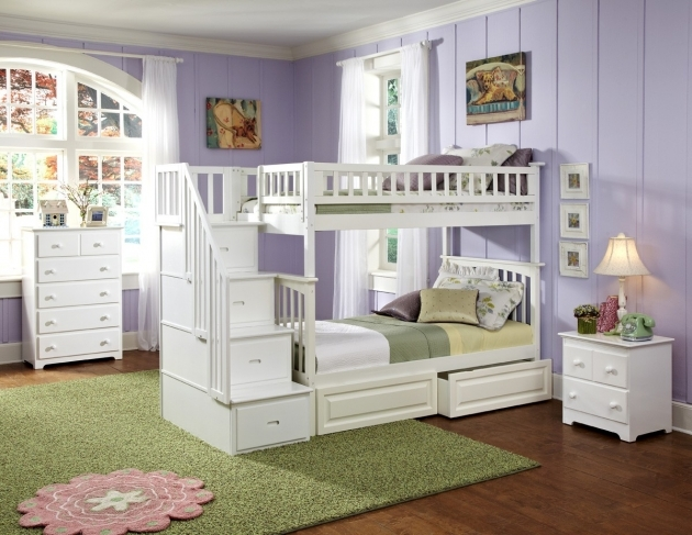 Beautiful Twin Bunk Beds With Stairs Image 58