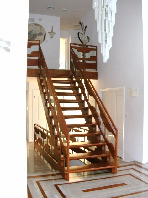 Beautiful Wooden Staircase Designs Inspiring Interior Home With Unique Pendant Lamp Photo 42