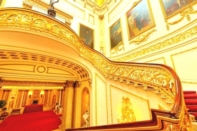 Buckingham Palace Staircase Floating Grand Staircases Design Modern With Wooden Handrails Photos 67