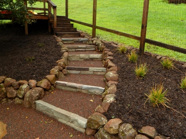 Building Stairs Into A Hill Hillside Project Completed Photos 09