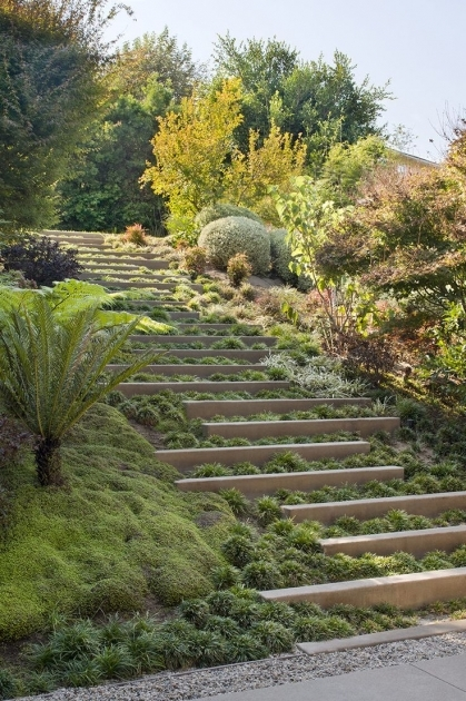 Building Stairs Into A Hill Ideas Landscape Steps Pics 63