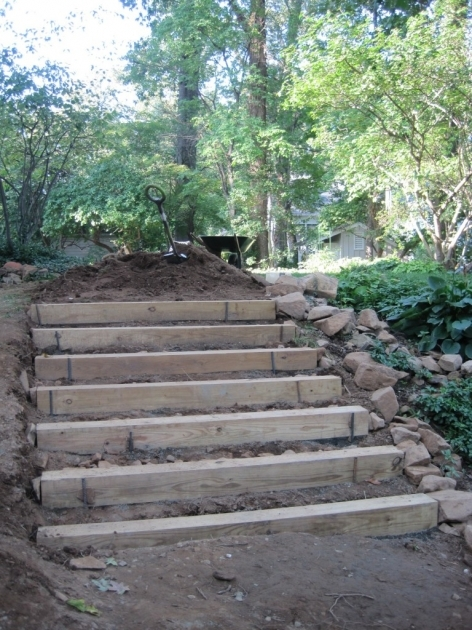 Building Stairs Into A Hill Slopes Steps Walls Photos 12