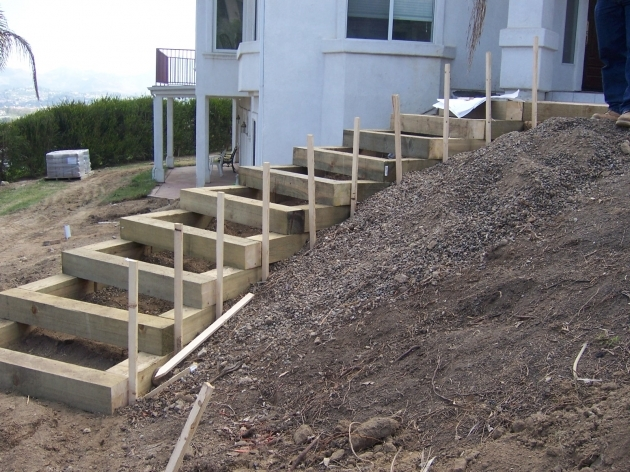 Building Stairs Into A Hill The 2 Minute Gardener Garden Elements Landscape Timber Stairs Images 30