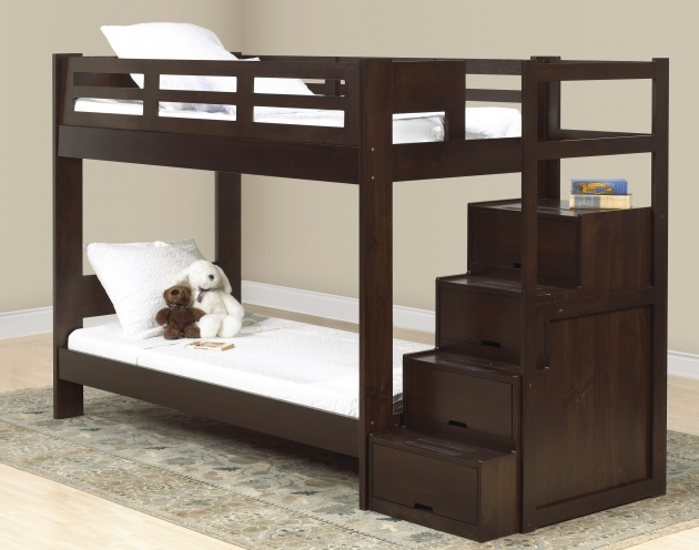 Bunk Beds Stairs Drawers Design For Kids Bedroom Photo 86