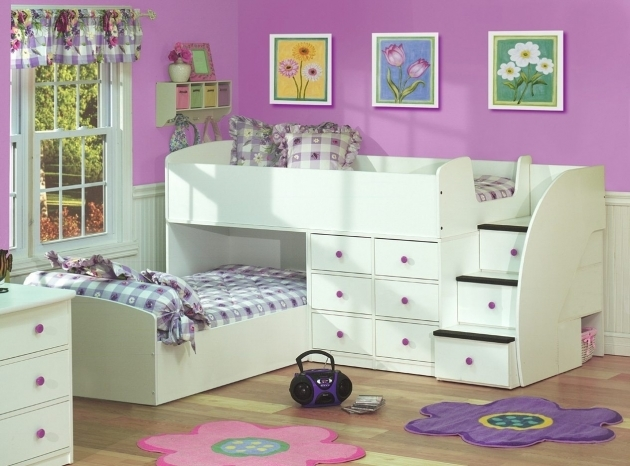 Bunk Beds Stairs Drawers Girls Bunk Bed With Storage  Images 75