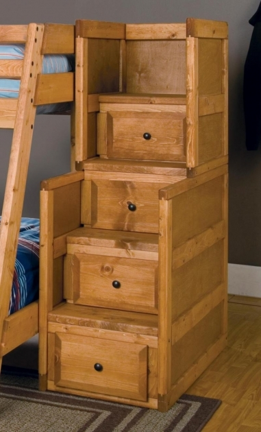 Bunk Beds Stairs Drawers Stairway Chest NatlPine By Trendwood Photo 52