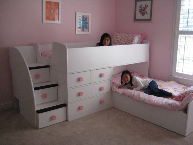 Bunk Beds Stairs Drawers White Ideas Loftbed Picture 13