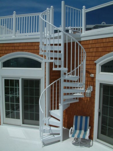Circular Staircase Exterior Design House Ideas Pics 80