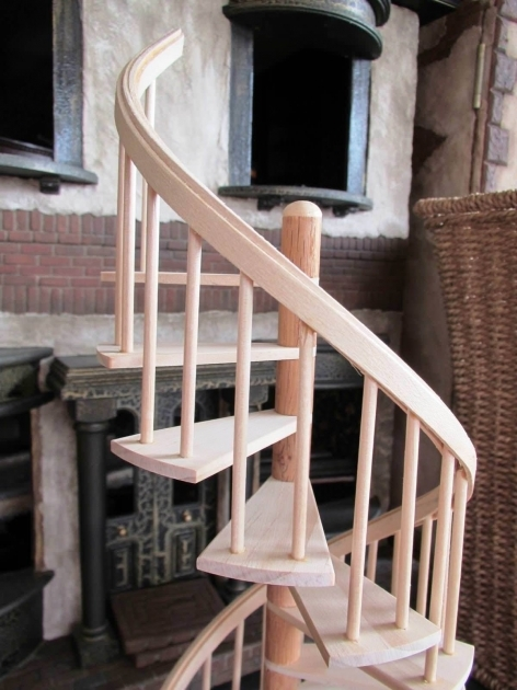 Circular Staircase Exterior Wooden Small Design Images 96