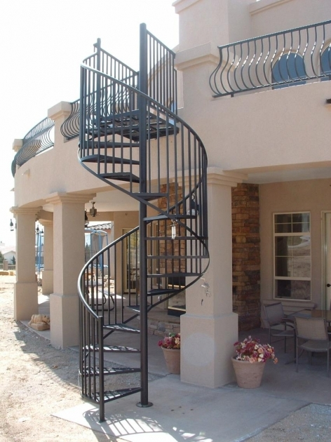 Circular Staircase Exterior Wrought Iron Spiral Stairs Image 03