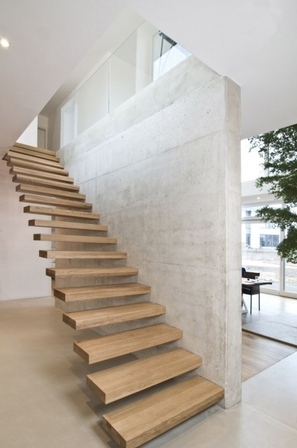 Floating Concrete Stairs Building Ideas Image 41