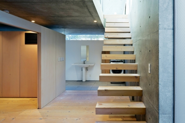 Floating Concrete Stairs Space Saving Staircase Design Ideas With Pleasant Concrete Apartment Complete Wooden Floating Step Groove Picture 53