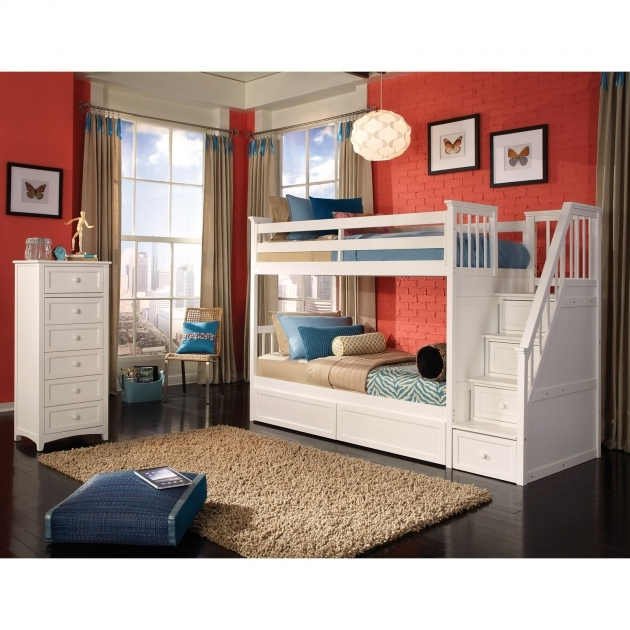 Home Stair Design Twin Bunk Beds With Stairs Photos 44