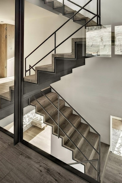 Metal Staircase Design Interior Decoration Pic 68