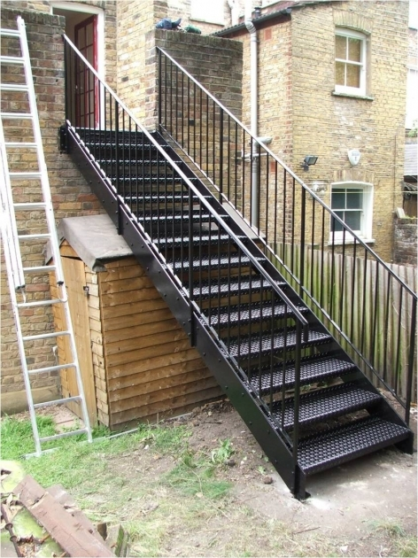 Metal Staircase Design Outdoor Building Project Image 03