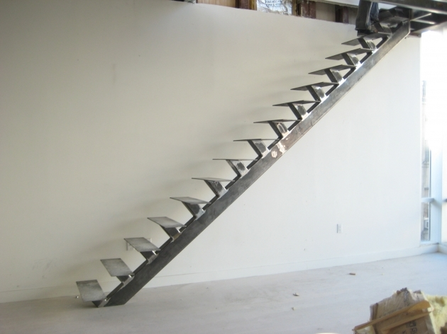 Metal Staircase Design Without Railing Custom Steel Staircase And Handrail Images 08