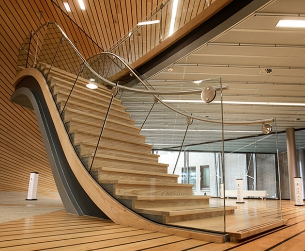 Modern Wooden Staircase Designs With Cute Handrails Great Ideas Photo 13