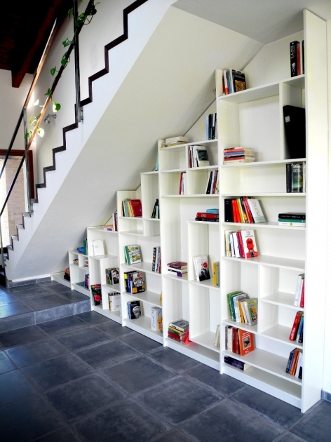 Shelves Under Stairs Bookshelves Ikea Hackers Pic 72