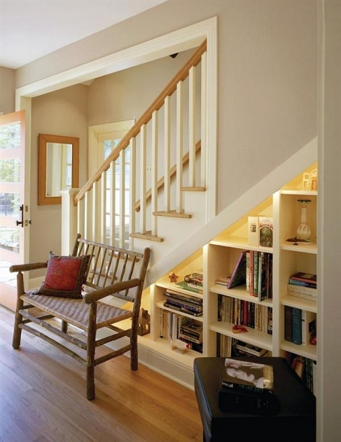 Shelves Under Stairs Ideas Design Photo 45