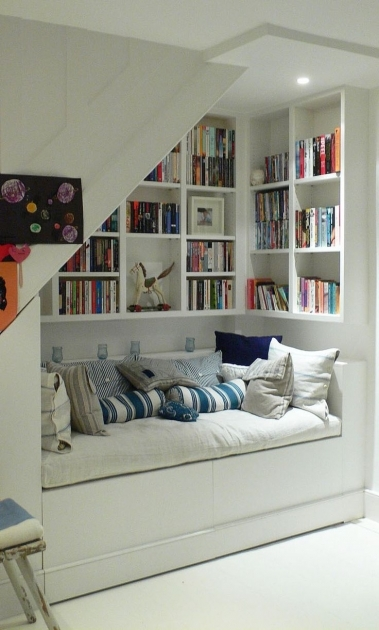 Shelves Under Stairs Ideas Photo 56