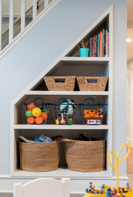Shelves Under Stairs Ideas Small Space Storage Picture 92