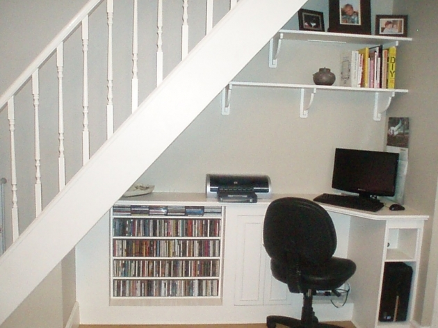 Shelves Under Stairs Ideas With Desk Pictures 92