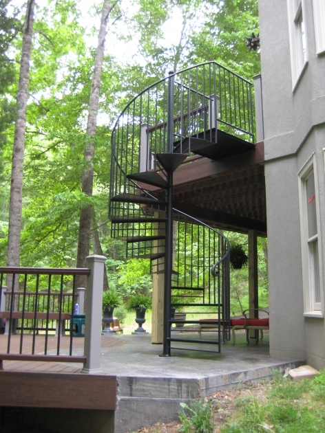 Spiral Staircases For Decks Iron Metal Rail Pic 85
