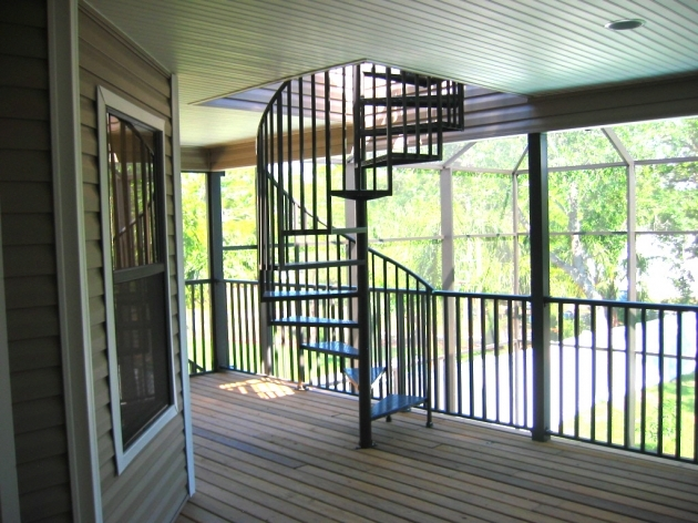 Spiral Staircases For Decks Tampa Bay Custom Home Builders Orange Blossom Developers Pictures 17