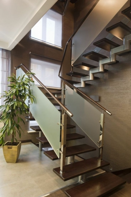 Staircase Glass Railing Designs Ideas Pics 40