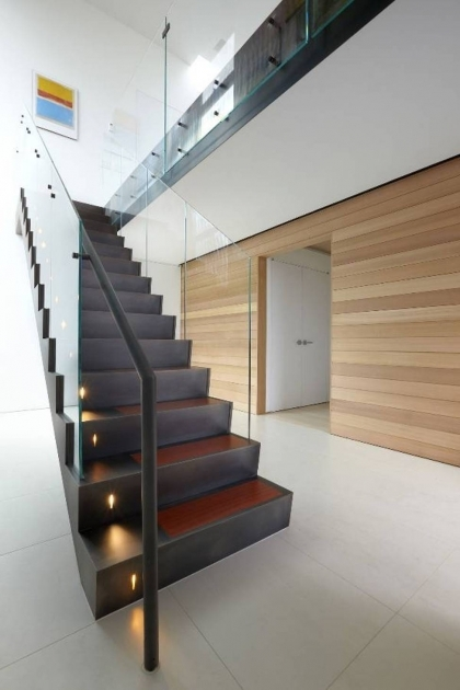 Staircase Glass Railing Designs Modern Ideas Photos 43