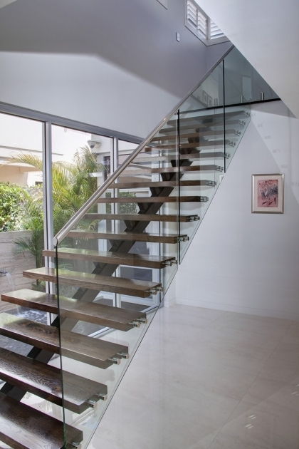 Staircase Glass Railing Designs With White Wall Can Add The Modern Nuance Natural Design Picture 92