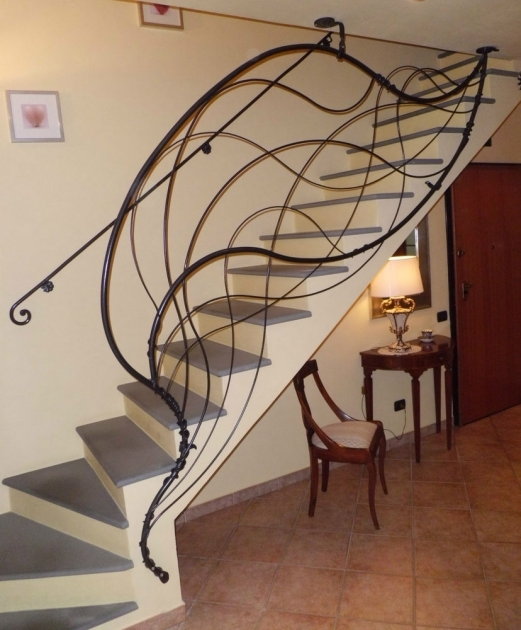 Staircase Railings Indoor Wrought Iron Photo 54
