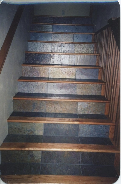 Tile Stair Risers Installation Slate Steps Image 28