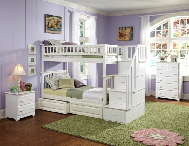 Twin White Bunk Beds Stairs Drawers Over Full Size Bunk Bed Pictures 50